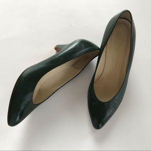 Evan Picone Vintage Leather Kitten Heel Pumps SZ 7